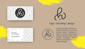 Monograma creativo - muestra dibujada mano de la caligrafía Puede ser utilizado como logotipo imagen de archivo