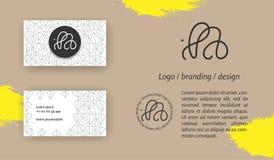 Monograma creativo - muestra dibujada mano de la caligrafía Puede ser utilizado como logotipo fotografía de archivo libre de regalías