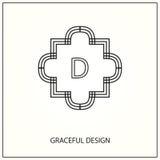 Monograma decorativo Imagens de Stock Royalty Free