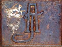 Monograma del hierro Fotos de archivo