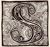 Monograma del vintage S Imagen de archivo