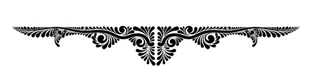Monograma floral decorativo do vetor Imagem de Stock