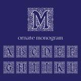 Monogramas adornados Imagenes de archivo