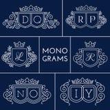 Monogramas ajustados Imagens de Stock