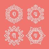 Monogramas de mimbre Foto de archivo libre de regalías