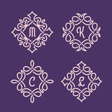Monogramas de vime Imagens de Stock Royalty Free