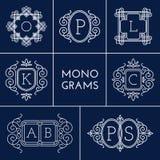 Monogramas fijados Fotos de archivo