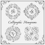 Monogramas fijados Fotografía de archivo