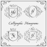 Monogramas fijados Imagen de archivo