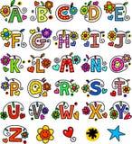 Monogramas lunáticos do alfabeto Fotografia de Stock Royalty Free