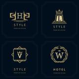 Monogramdesignbeståndsdelar, behagfull mall Royaltyfri Bild