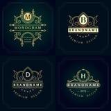 Monogramdesignbeståndsdelar, behagfull mall Royaltyfria Bilder