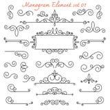 Monogramm Flourishstrudel für Design und d lizenzfreie abbildung