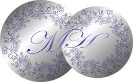 Monogramma di nozze Illustrazione di vettore di un monogramma d'annata Immagine Stock Libera da Diritti