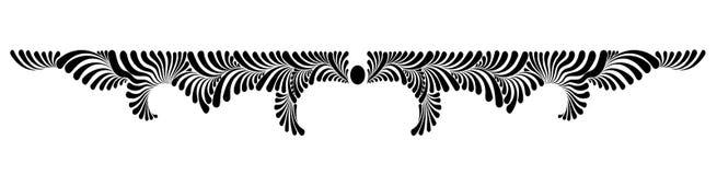 Monogramma floreale decorativo di vettore Immagine Stock