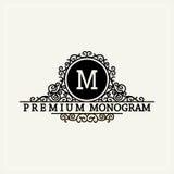 Monogramma grazioso alla moda nello stile vittoriano Immagine Stock