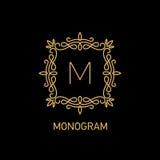 Monogramme 4 illustration libre de droits