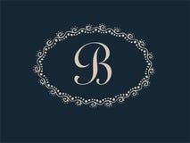 Monogramme abstrait Logo Design élégant de lettre de B Image stock