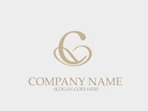 Monogramme abstrait Logo Design élégant de lettre de C Image libre de droits