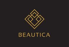 Monogramme abstrait Logo Template Design Vector, emblème, concept de construction, symbole créatif, icône Images libres de droits