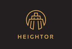 Monogramme construisant Logo Template Design Vector, emblème, concept de construction, symbole créatif, icône Images libres de droits