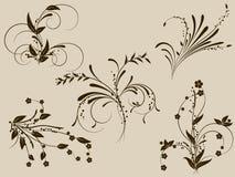 Monogramme de fleur Illustration Libre de Droits