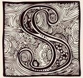 Monogramme du vintage S Image stock