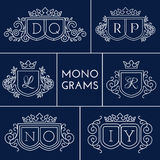 Monogramme eingestellt Stockbilder
