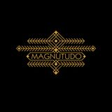 Monogramme ethnique de luxe d'Art Deco Monochrome Gold Flourishes de vintage Emblème ornemental Logo de calibre Style de hippie illustration libre de droits