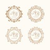 monogrammen Royalty-vrije Stock Foto's