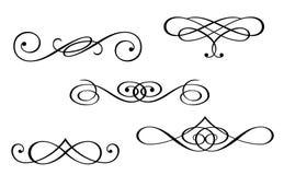 Monogrammen en wervelingselementen royalty-vrije illustratie