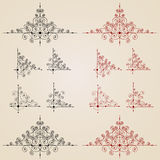 Monogrammes de cru pour la conception. Photos stock