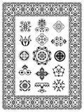 Monogrammes ornementaux d'éléments de conception Image stock