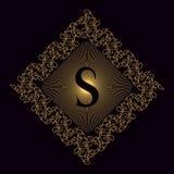 Monogrammgestaltungselemente, würdevolle Schablone Elegante Linie Kunstlogodesign Geschäftszeichen, Identität für Restaurant, Abg Stockfoto
