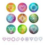 Monogrammi di cristallo astratti di vettore royalty illustrazione gratis