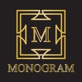 Monogrammikone Stockbild