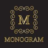 Monogrammikone Lizenzfreies Stockfoto