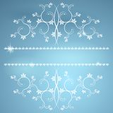 Frame with monograms for design and decorate. Royalty Free Stock Photo