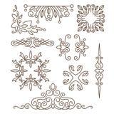 Monograms,line design elements for logos, frames Royalty Free Stock Photo