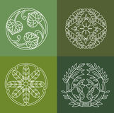 Monograms. Line Design Floral Elements For Logo, Frames And Borders In Modern Style. Royalty Free Stock Image