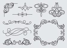 Monograms menu design, calligraphic Stock Images