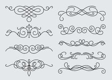 Monograms menu design, calligraphic Royalty Free Stock Image