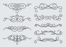 Monograms menu design, calligraphic Royalty Free Stock Image