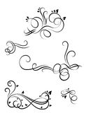Monograms set. A few monograms with leaves and without them Stock Photography