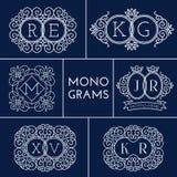 Monograms set Stock Image