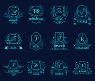 Monograms shields set Stock Photo