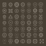 Monogramsamling för designprojekt Royaltyfri Foto