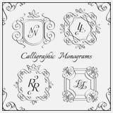 Monogramuppsättning Arkivfoto