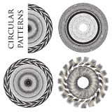 Monohrome circular patterns. With strong geometry Royalty Free Stock Photos