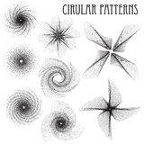 Monohrome circular patterns. With strong geometry vector illustration
